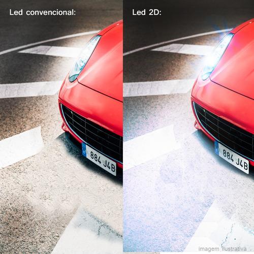 kit lampada super led novo 2d 8000k carro alta baixa 12v 24v