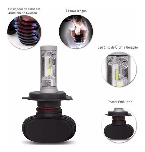 kit lampada ultra led titanium shocklight h4 10000 lumens