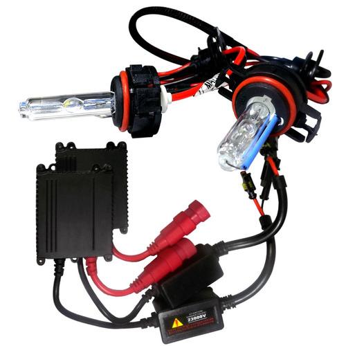 kit lampada xenon reator super slim 4300k 6000k 8000k h8 h9
