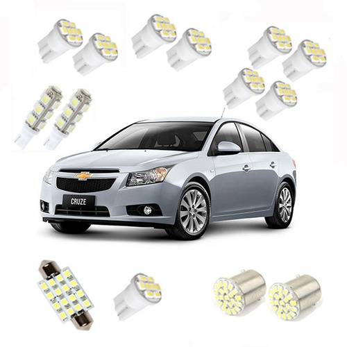 kit lampadas led chevrolet cruze sedan/hacth teto/ré/farol/p