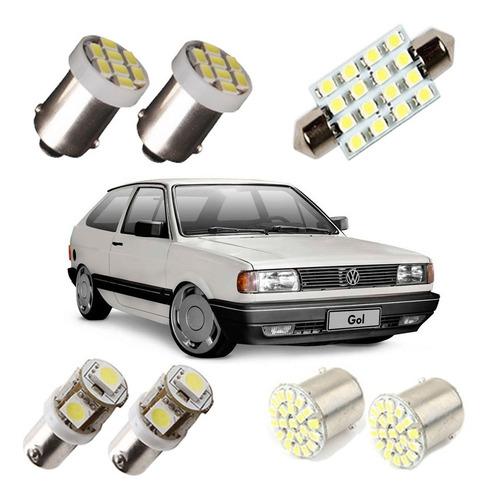 kit lampadas led gol quadrado luz pingo teto ré