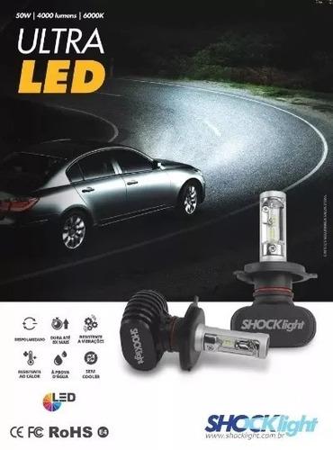 kit lampadas ultra led h1 h3 h7 h11 hb4 h13 shocklight