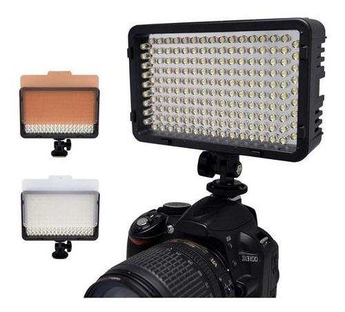 kit lámpara 130 leds medianos tripie linco video fotografía