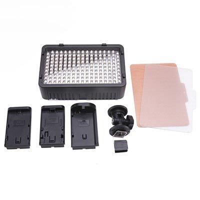 kit lampara 168 led video +2 baterias + l bracket canon sony