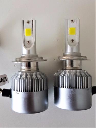 kit lampara luces led auto cob no cree  h4 h7 h11 h1