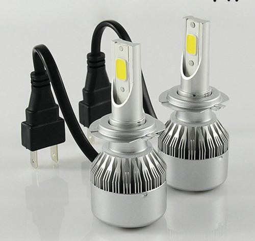 kit lampara luces led auto cob no cree no xenon h4 h7 h11 h1