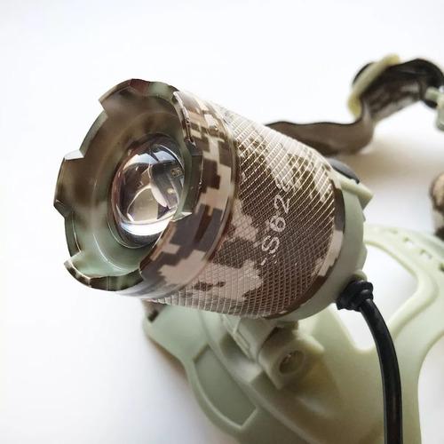 kit lampara minera led t6 + lampara táctica q5 zoom
