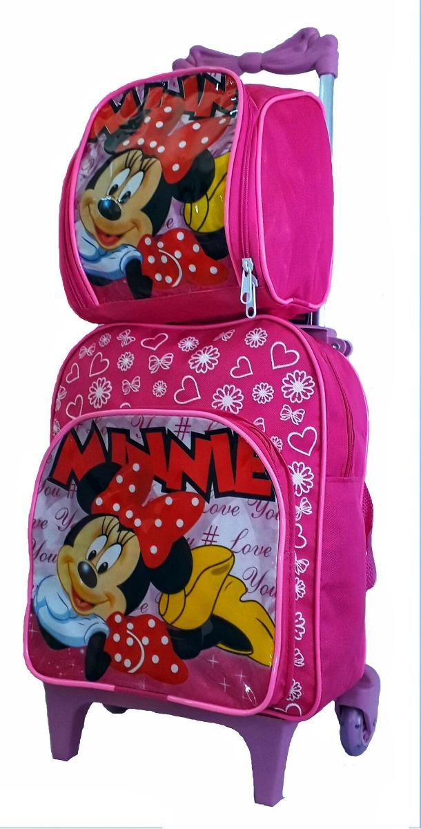 ca2271e1d kit lancheira escola mochila feminina infantil minie rodinha. Carregando  zoom.