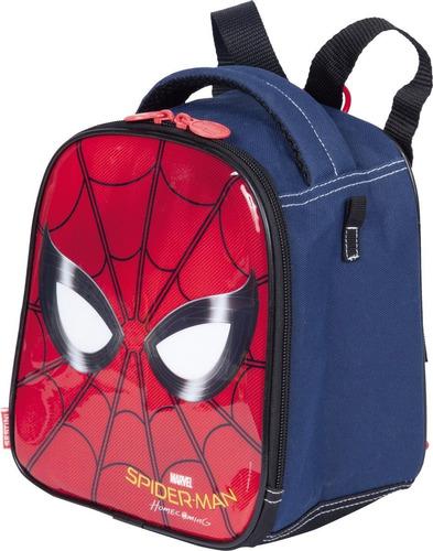 kit lancheira + estojo homem aranha/ spider man 65073