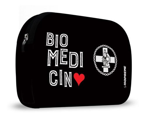 kit lancheira neoprene com necessaire biomedicina isoprene