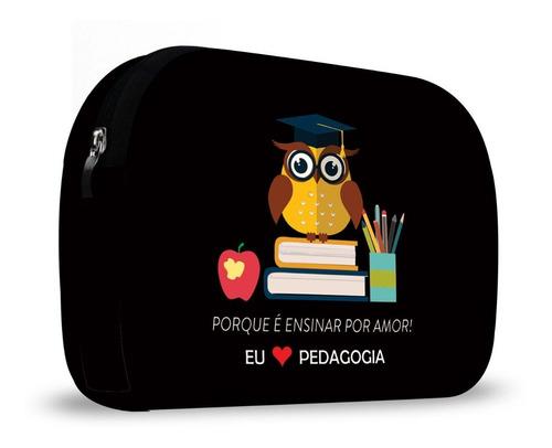 kit lancheira neoprene com necessaire pedagogia isoprene