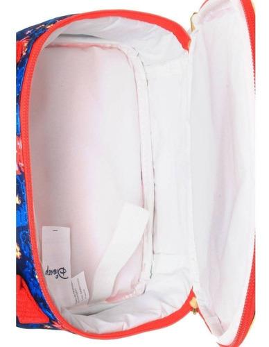 kit lancheira soft elena de avalor 11069 + estojo soft 11068