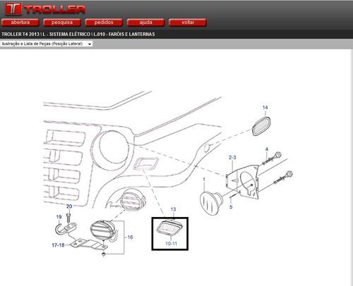 kit lanterna direcional frontal ld / le troller 2009 á 2014