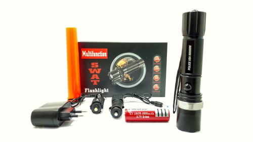 kit lanterna tática militar 500000w profissional swat 150m