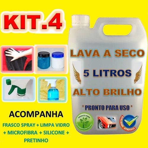 kit lava e encera carro a seco 5 litros * economize água *