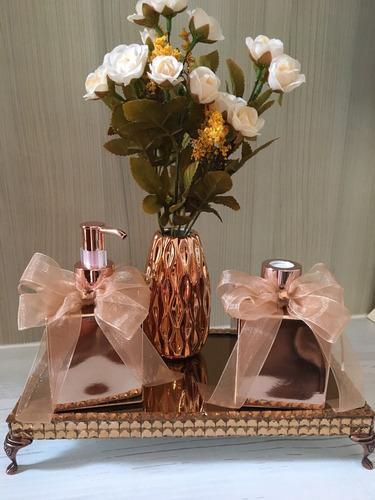 kit lavabo luxo rosé