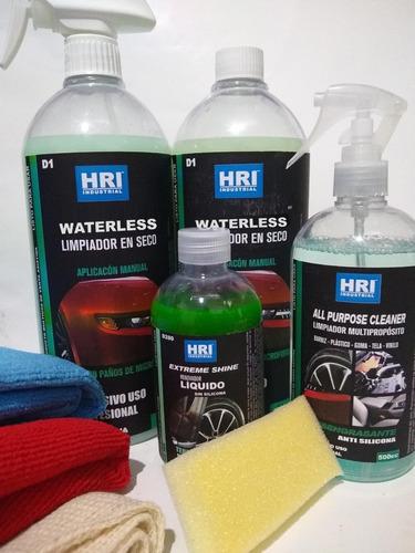 kit lavado en seco de autos hri promo 5 productos