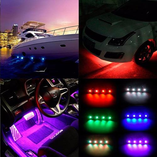 kit led bajo chasis bluetooth neon rgb control desde celular