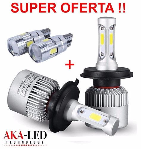 kit led cree cob 16000lm h4 alta y baja +2 t10 de regalo!!