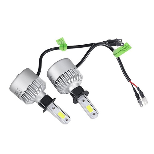 kit led cree cob h1 h3 h7 h11 9006- 16000lm - 40w con cooler