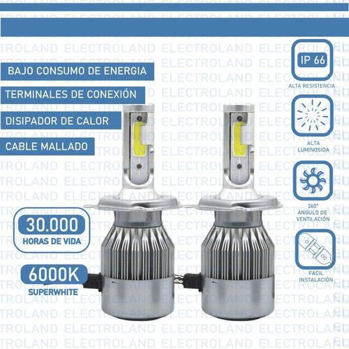 kit led cree cob h4 h1 h7 h3 9005 12/24v 2019 c6+ 2 posicion