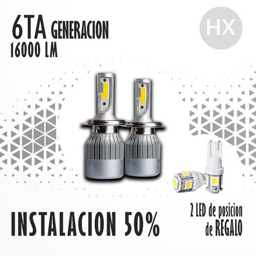 kit led cree h1 h3 h7 h11 6ta generacion 16000 lm +2led free