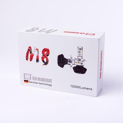kit led cree h1 h3 h7 h11 h16 8va g. 18000 lm inst. incluida