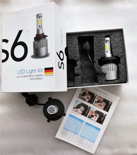 kit led cree s6 32000 lumens h4 h1 h7 hb4 h3 h11 h8 envios