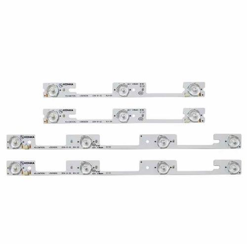 kit led novo 4 barras aluminio 32l2400  dl3245i dl3253 novo