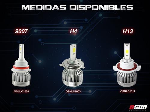 kit led osun c1 tipo xenon faros focos alta baja h4 9007 h13