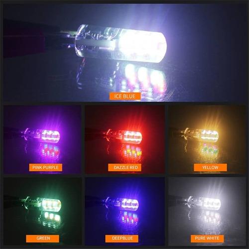 kit led posicion t10 multicolor rgb con control remoto