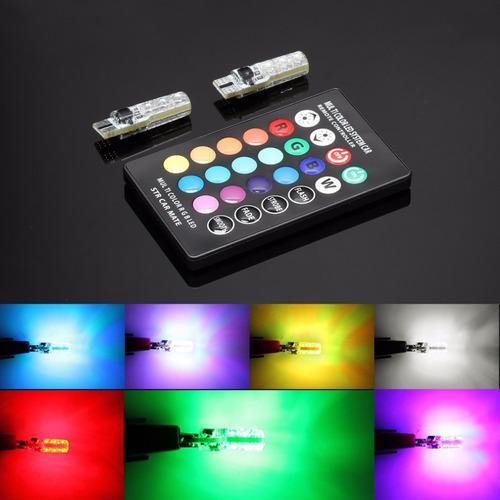 kit led t10 pellizco colores a control remoto y multifuncion
