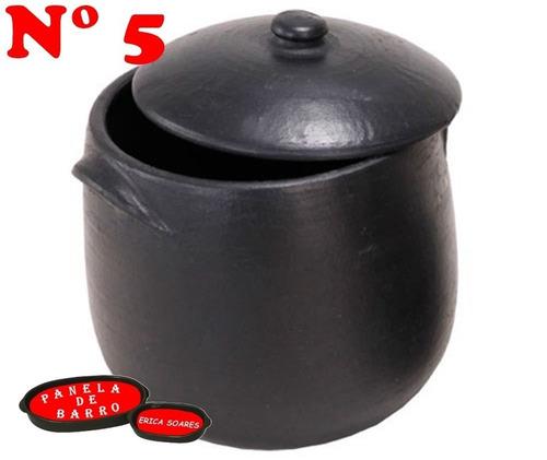 kit legítima panela de barro capixaba nº 5 + caldeirão nº 5.