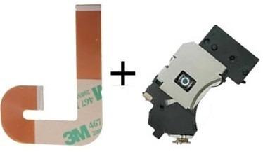 kit leitor óptico lente+cabo flat j playstation 2 slim ps2