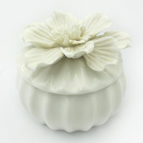 kit lembrancinha 3 porta jóias flor bibêlo cerâmica