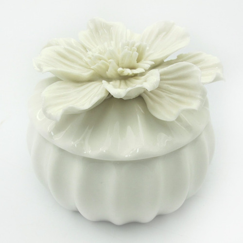 kit lembrancinha 8 porta jóias flor bibêlo cerâmica