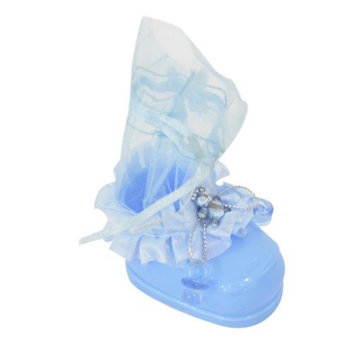 kit lembrancinhas sapatinho de bebê decorados - 10 unidades