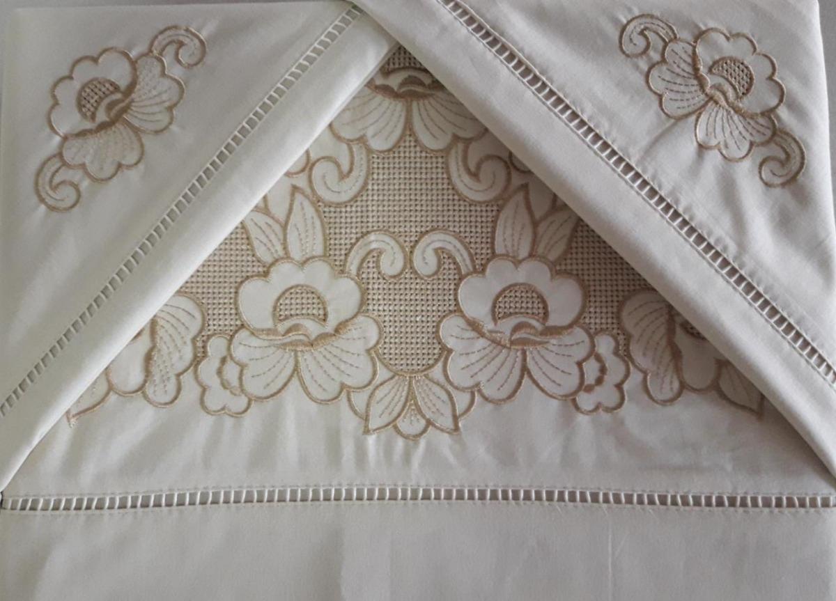 67dec7856e kit lençol casal queen crivo 4 peças preço atacado algodao. Carregando zoom.