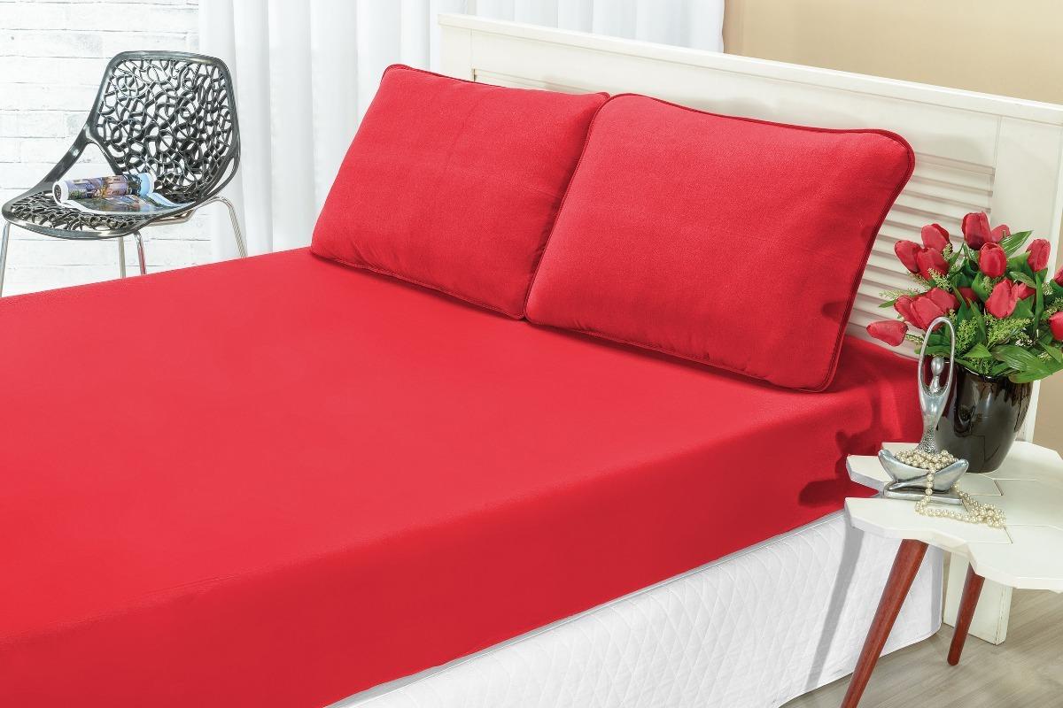 95acf4a09c kit lençol quality liso casal queen malha 3 peças c elástico. Carregando  zoom.
