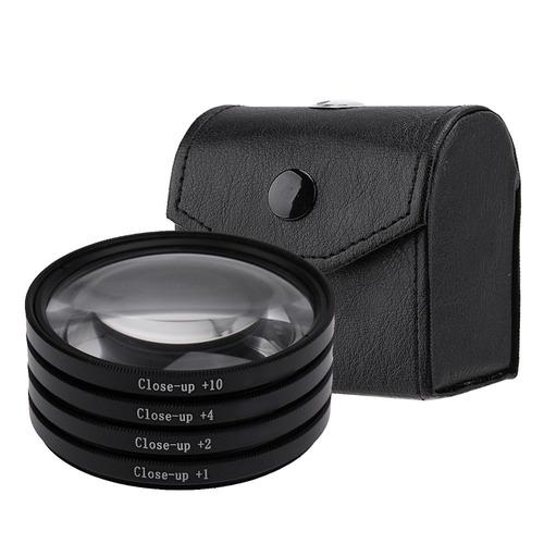 kit lente filtro p/ macro fotografia +1 +2 +4 +10 de 40,5mm