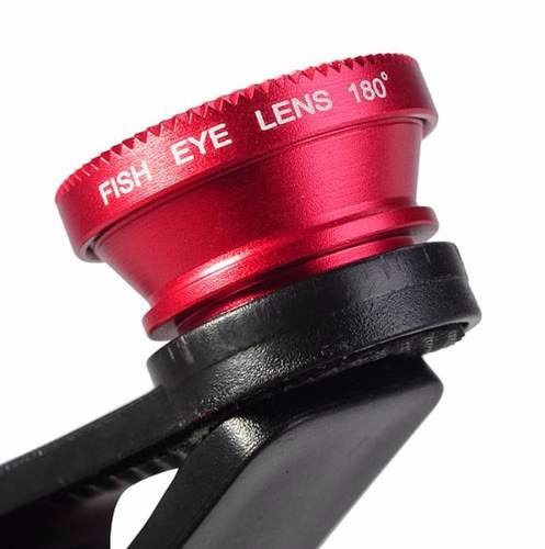kit lente fisheye olho de peixe iphone galaxy ipad 180º