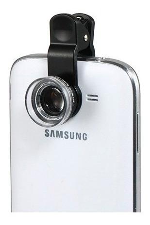 kit lente universal para celulares smartphone tablets