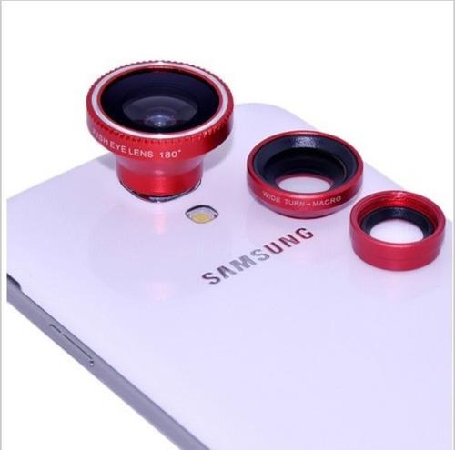 kit lente universal smartphone 3x1 fish eye/macro/wide angle