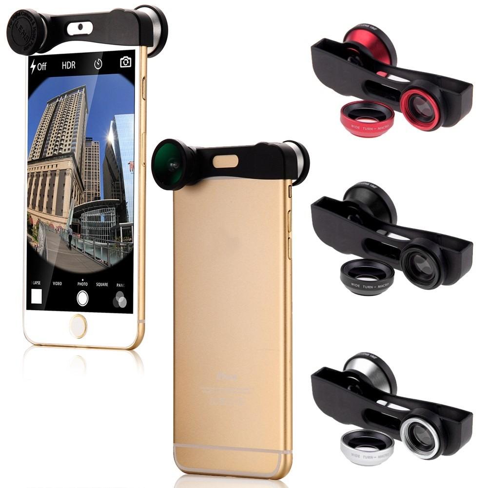 81df3dec2ff kit lentes 3 em 1 fish eye macro wide iphone 6 4,7 polegadas. Carregando  zoom.