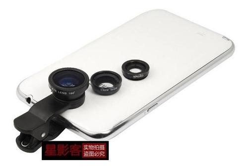 kit lentes fisheye+wide+macro para iphone 4, 4/s,5, e outros