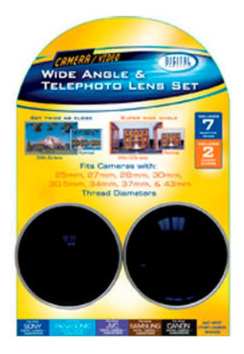 kit lentes tele digital ga 37mm - tecsys