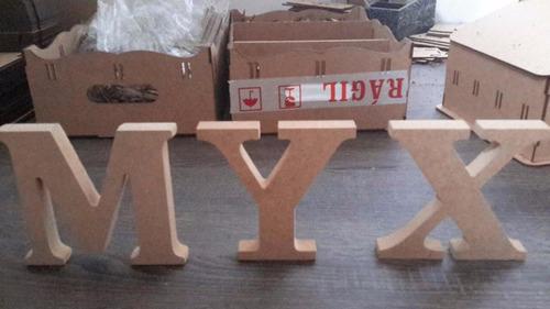 kit letras de mdf decoração abcdário 26 letras+2 kit vogais