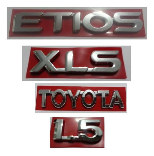 kit letreiro toyota etios xls 1.5