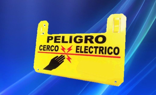 kit letreros de advertencia cerco eléctrico 10 unidades