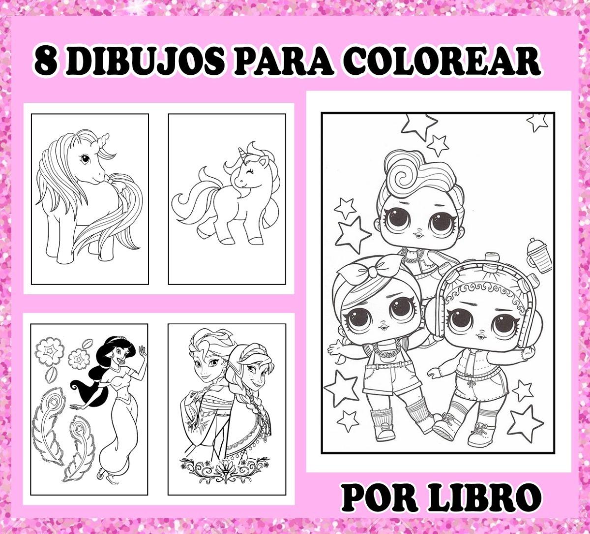 Kit Librito Para Pintar E Imprimir En Casa Lol 3x1 120 00 En